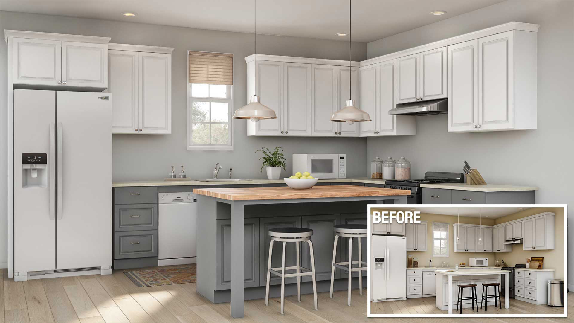 kitchen cabinet makeover cost
